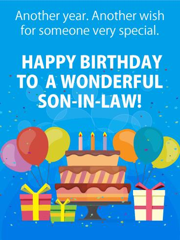 birthday greeting cards for son in law ; b_day_forsil01-a188b05428f51b979170e3e51cd2b00e