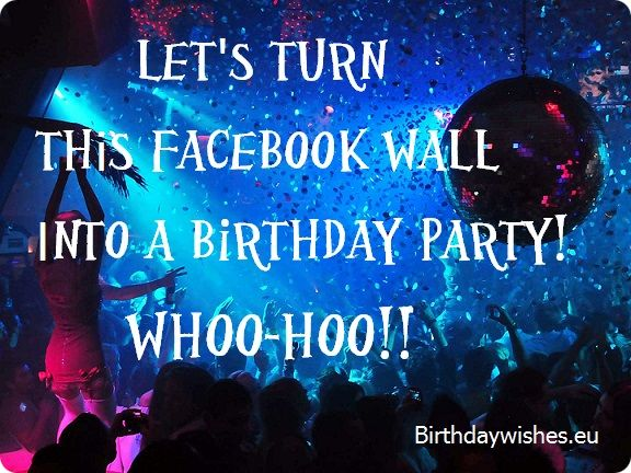 birthday greeting facebook wall ; lets-turn