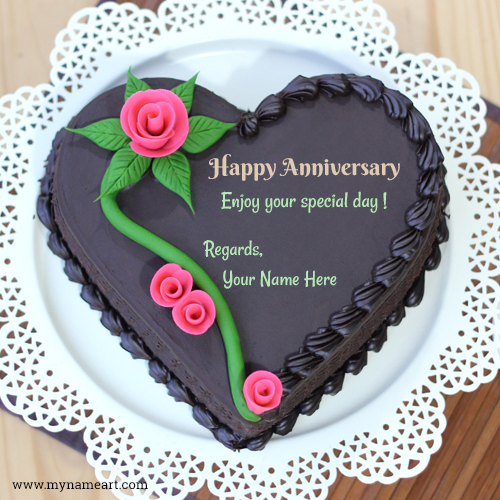 birthday greeting maker online ; happy-anniversary-special-day-wishes-rose-cake