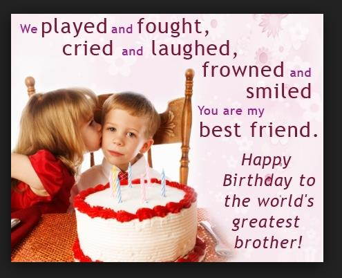 birthday greeting to brother from sister ; 3262455eb43d76bf968ffe1a70c17b29