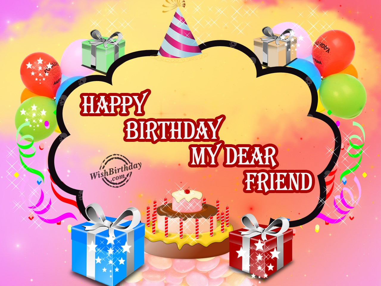 birthday images for friend download ; Wishing-happy-Birthday-To-My-Sweet-Friend