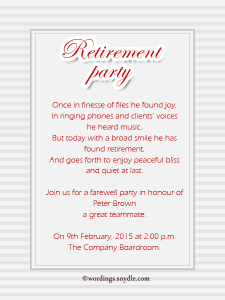 birthday invitation card matter ; invitation-greetings-for-retirement-party