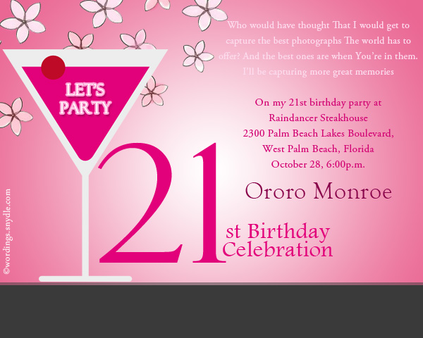 birthday invitation card message ; 21st-birthday-party-invitation-wordings