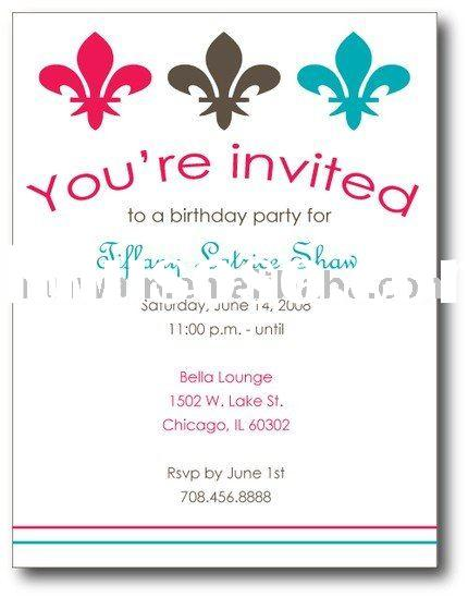 birthday invitation card message ; Samples-Of-Party-Marvelous-Sample-Party-Invitation