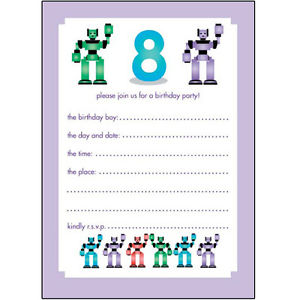 birthday invitation cards for 8 year old boy ; s-l300
