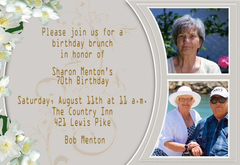 birthday invitation cards for grandmother ; classic-card-template