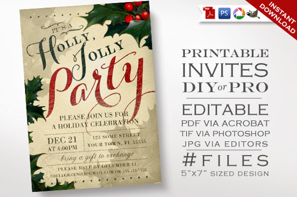 birthday invitation flyers free ; christmas-party-invitation-designs-holiday-party-flyer-templates-free-evozym-download