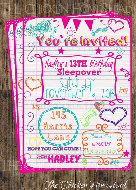 birthday invitation ideas for tweens ; admirable-teenage-birthday-party-invitations-may-our-impressive-Birthday-invitation-help-you-to-decide-your-invitation-card-style-7