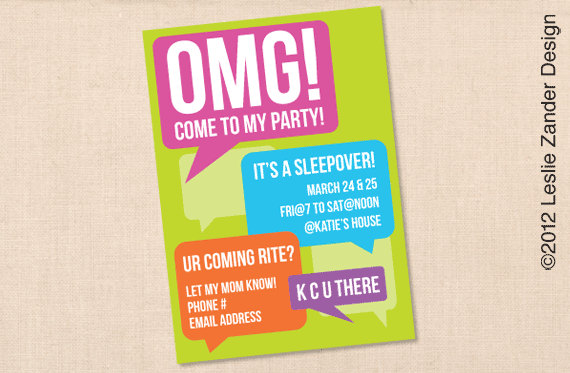 birthday invitation ideas for tweens ; tween-party-invitations-to-bring-more-colors-on-your-gorgeous-Party-invitations-2