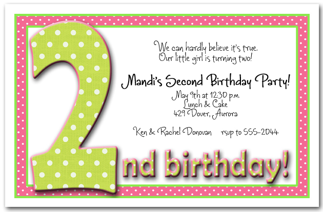 birthday invitation message examples ; second-birthday-invitation-wording-examples-zgreendot2bdgr