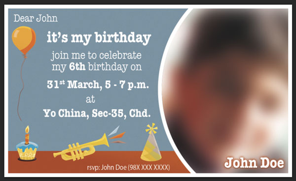birthday invitation size photoshop ; 11