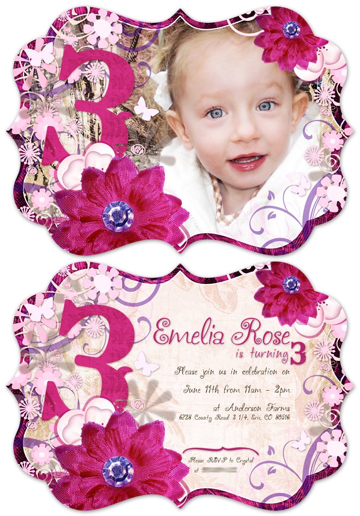 birthday invitation wording for 11 year old ; E3-11-Combo
