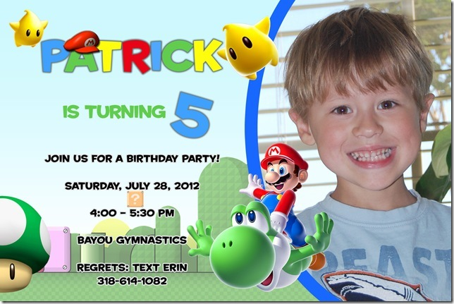 birthday invitation wording for 11 year old ; Patrick4by6_thumb