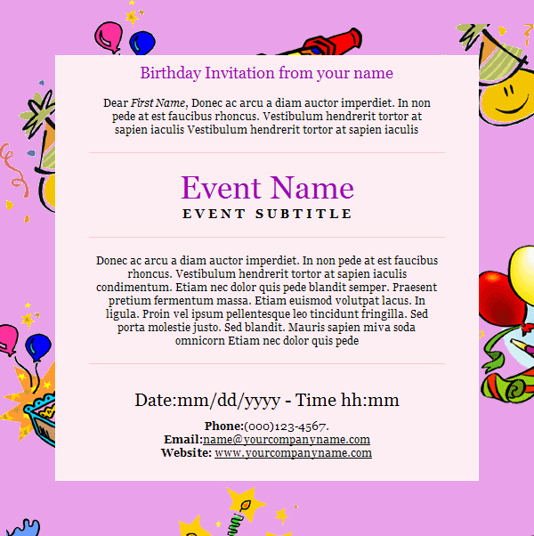 birthday invitation wording for colleagues ; Birthday-Invitation-Email-Template-Cute-Party-Invitation-Email-To-Colleagues