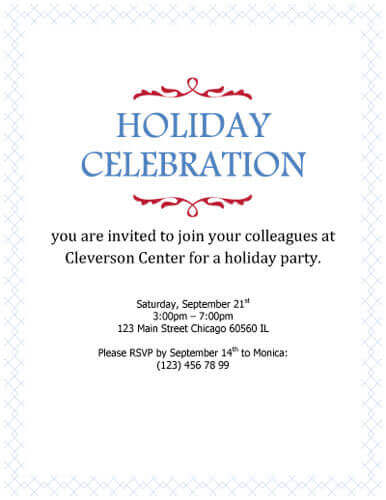 birthday invitation wording for colleagues ; Holiday-Celebration-Simple-Corporate-invitation