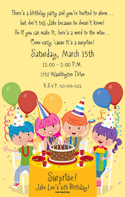 birthday invitation wording for colleagues ; birthday-kids-party