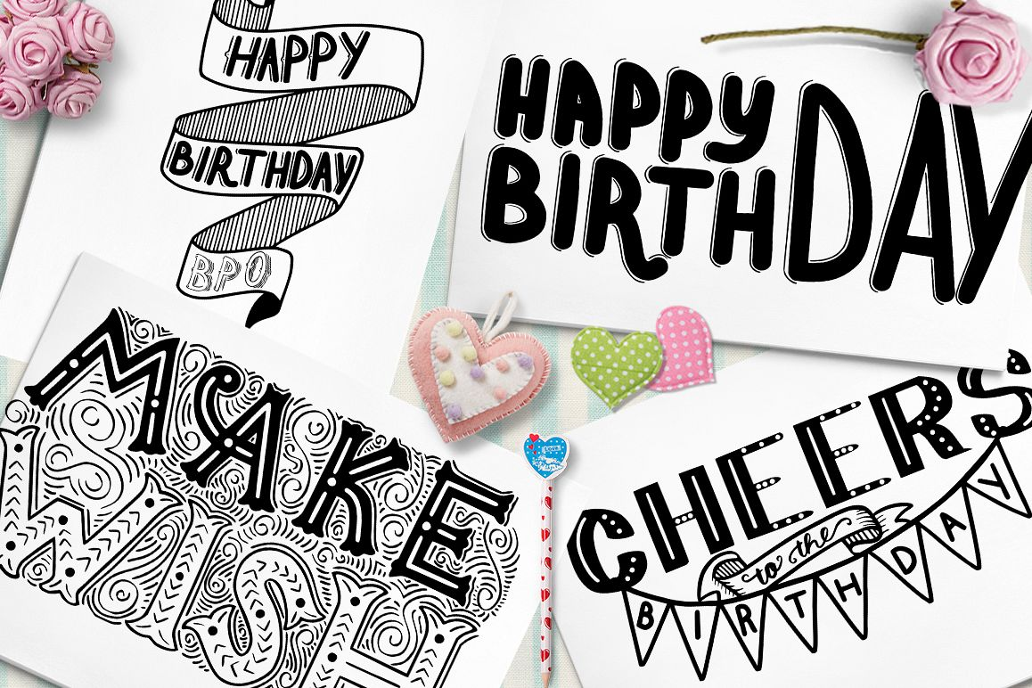 birthday lettering design ; a213f2975faa983bf67bde43823be095_resize