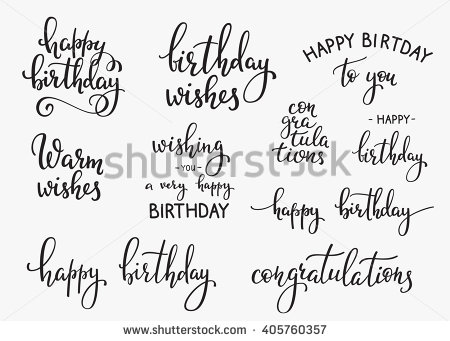 birthday lettering design ; stock-vector-happy-birthday-lettering-sign-quote-typography-set-calligraphy-design-for-postcard-poster-graphic-405760357