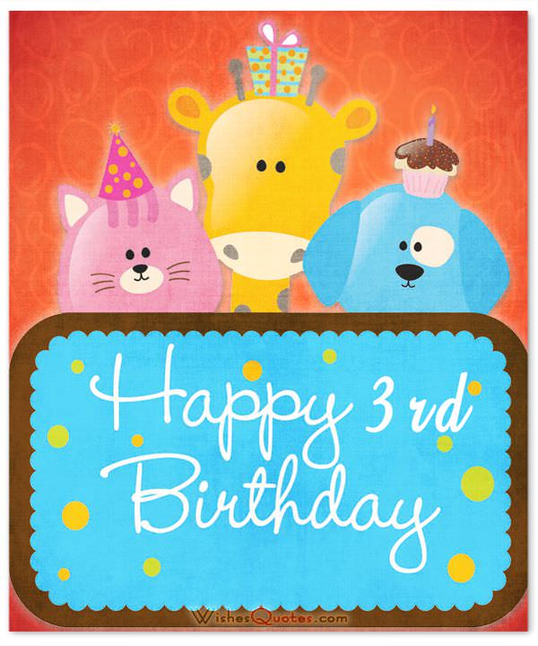 birthday message for 3 year old ; 3rd-Birthday-Wishes-card