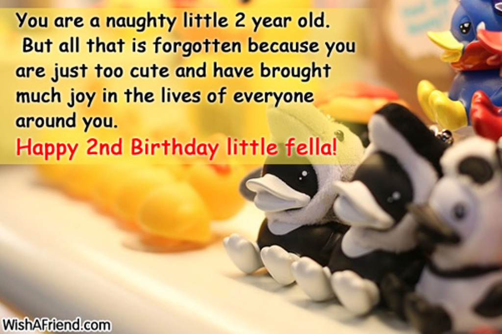 birthday message for 3 year old ; You-Are-Naughty-Little-Two-sb1249