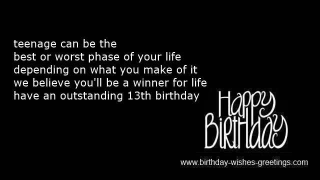 birthday message for a 13 year old boy ; 13th-birthday-wishes-for-girl