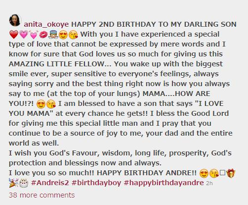 birthday message for a 2 year old boy ; anita-insta