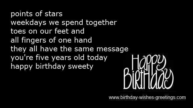 birthday message for a 6 year old daughter ; 5th-birthday-poems-for-invitations