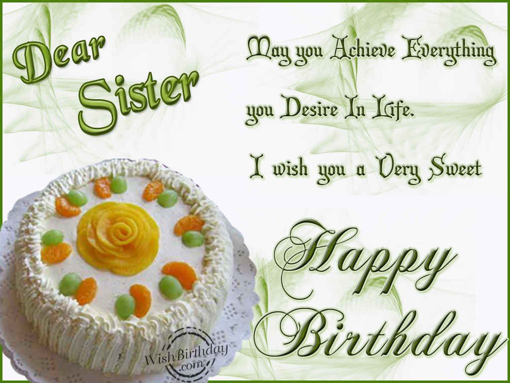 birthday message for a dear sister ; 995
