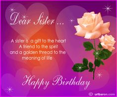 birthday message for a dear sister ; a0901b7479947c9cb4dde66505af0994--sweet-sister-quotes-sister-birthday-quotes