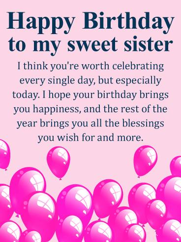 birthday message for a dear sister ; b_day_fsi85