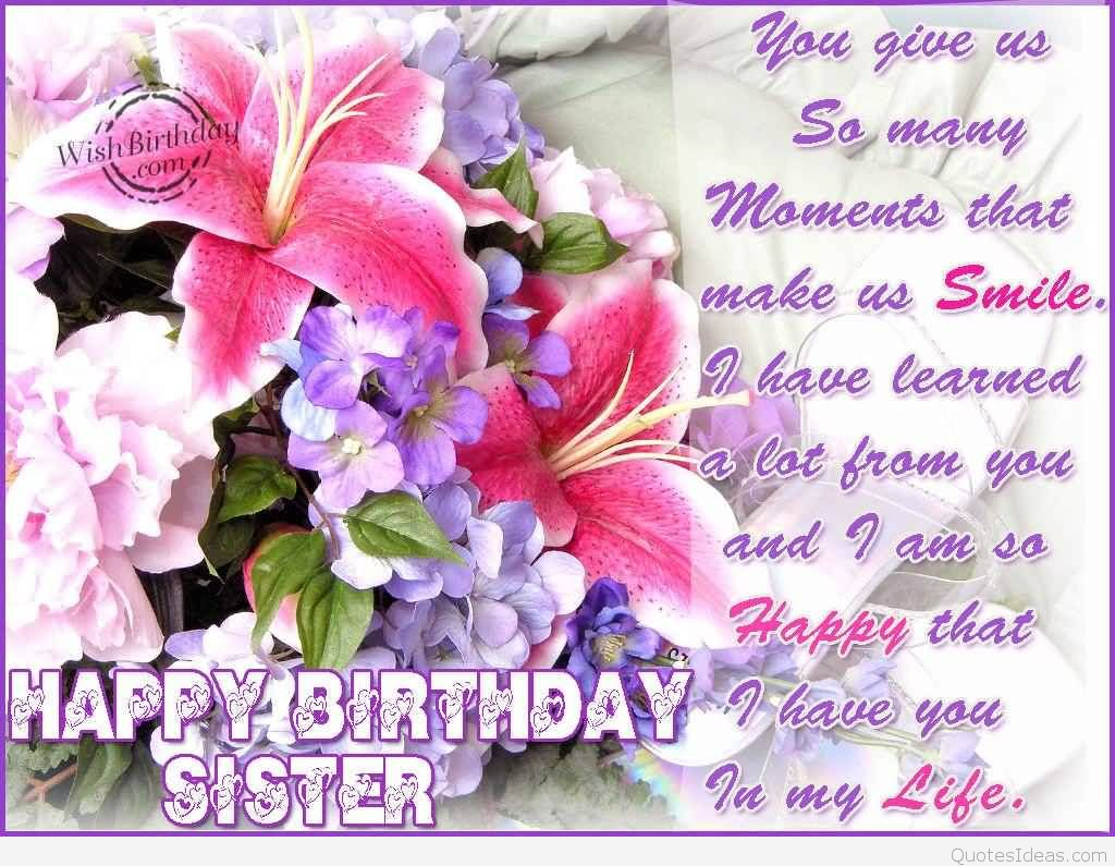 birthday message for a dear sister ; beautiful-flower-birthday-wishes-for-dear-sister