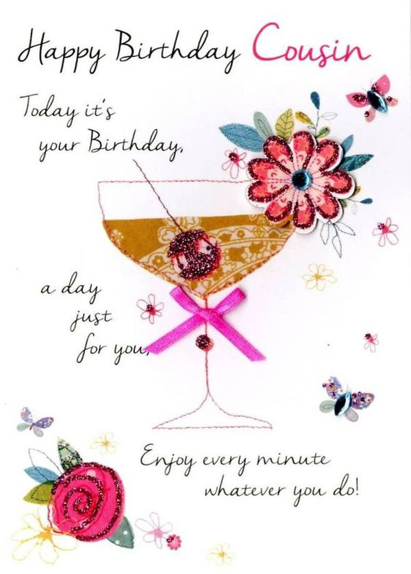 birthday message for a girl cousin ; Perfect-simle-drawing-happy-birthday-cousin-images-1