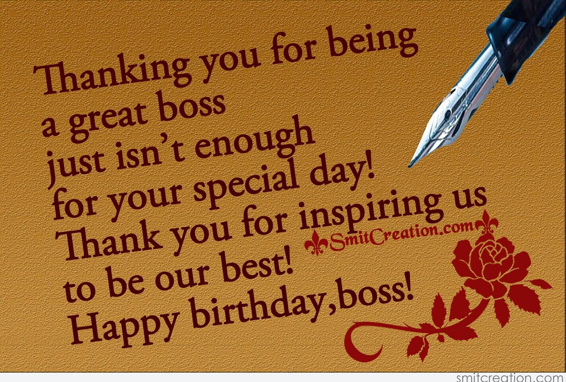 birthday message for a great boss ; 5191
