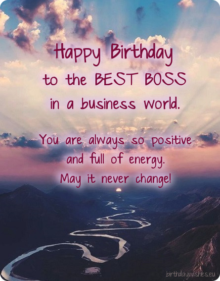 Birthday Message For A Great Boss Best Happy Birthday Wishes