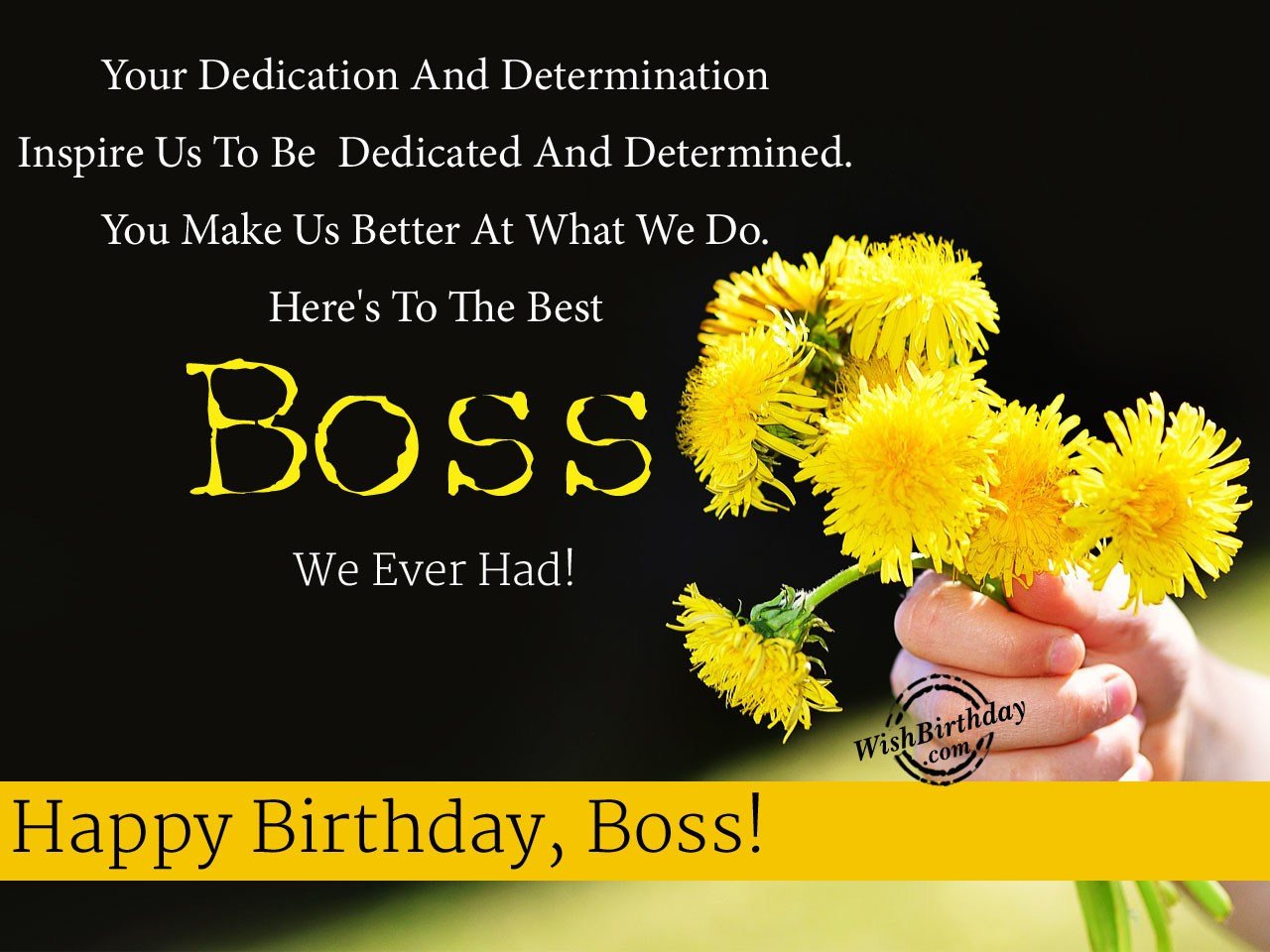 birthday message for boss in hindi ; Heres-To-The-Best-Boss-We-Ever-Had