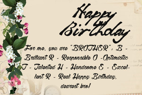 birthday message for brother from sister funny ; best-happy-birthday-wishes-for-brother