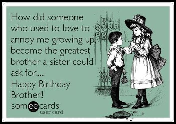 birthday message for brother from sister funny ; dc61f534e7c17ed77e455b514b7c2cf5