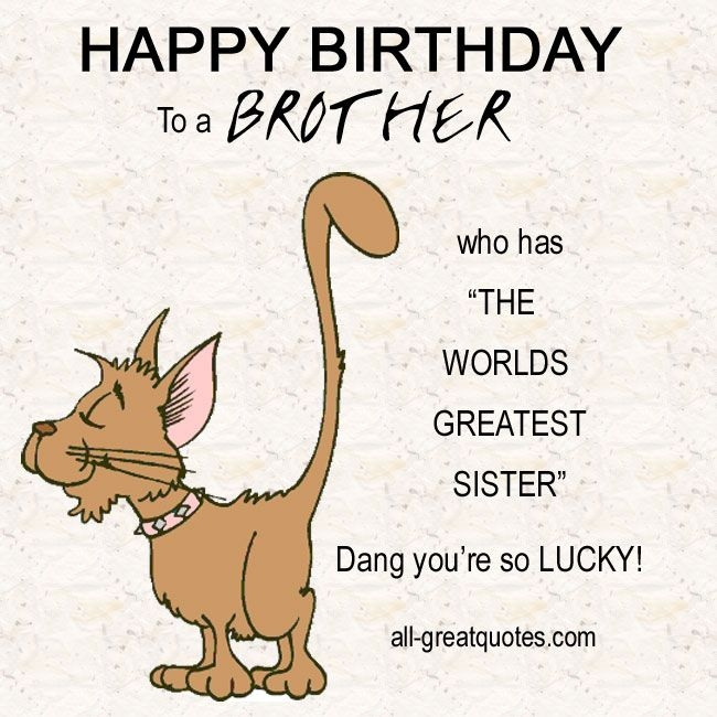 birthday message for brother from sister funny ; funny-happy-birthday-quotes-for-sister-best-of-25-best-ideas-about-birthday-wishes-for-brother-on-of-funny-happy-birthday-quotes-for-sister