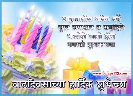 birthday message for father in marathi ; l