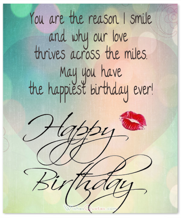 birthday message for husband across the miles ; love-birthday-wish