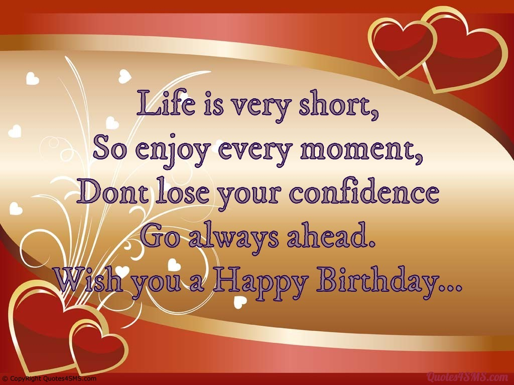 birthday message for husband in hindi ; quote-sms-life-is-very-short-so-enjoy-every-moment