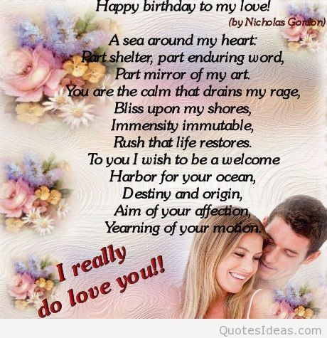 birthday message for love of my life ; Happy-birthday-poem-with-love