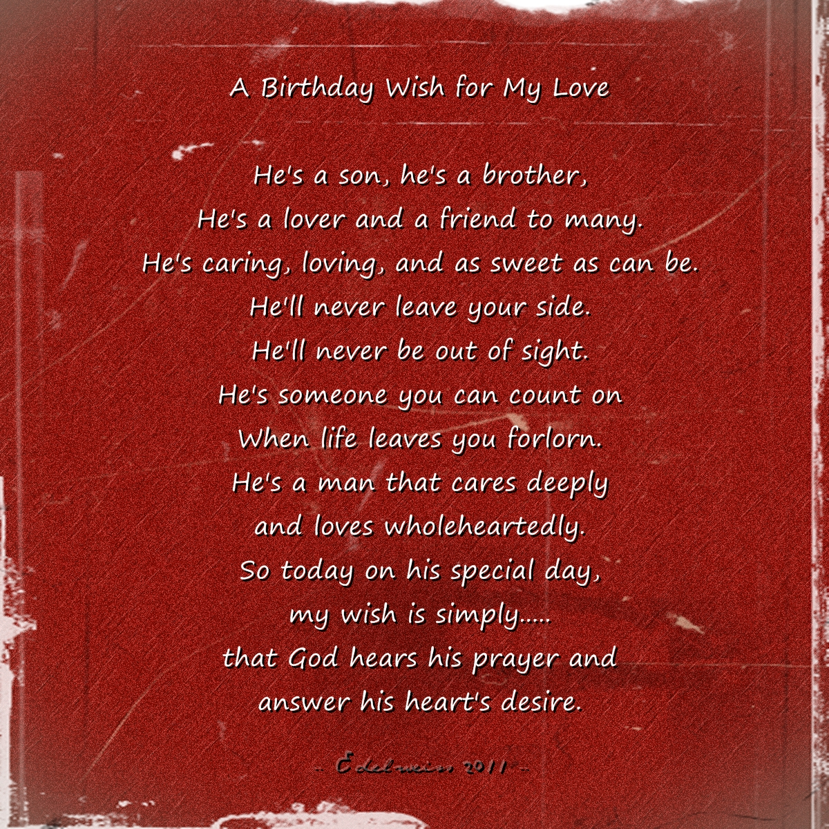 birthday message for love of my life ; bday_wish_for_hon