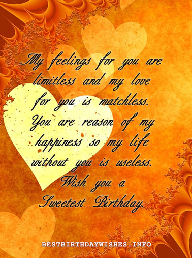 birthday message for love of my life ; my-birthday-wish-for-you