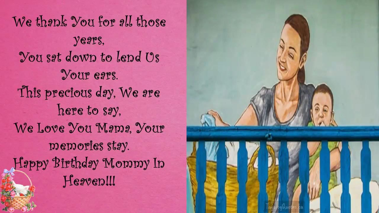 birthday message for mother in tagalog ; 91fa0a829c7d604370234641313dfbfe
