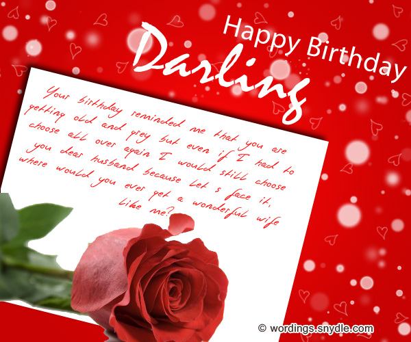 birthday message for my lovely husband ; funny-birthday-wishes-for-darling