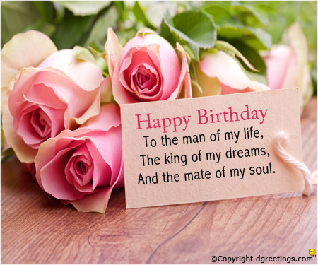 birthday message for my lovely husband ; to-the-man-of-my-life