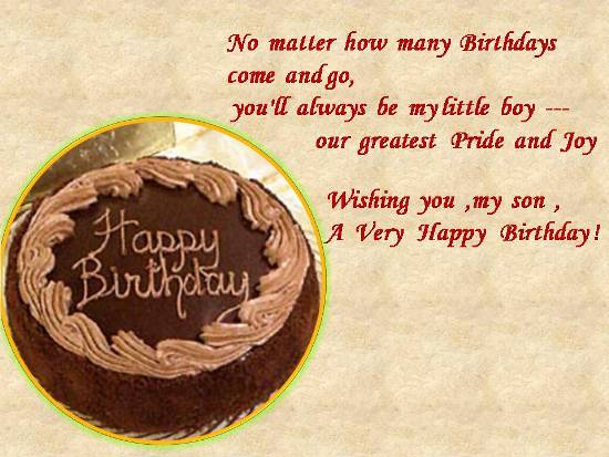 birthday message for my son ; 303388