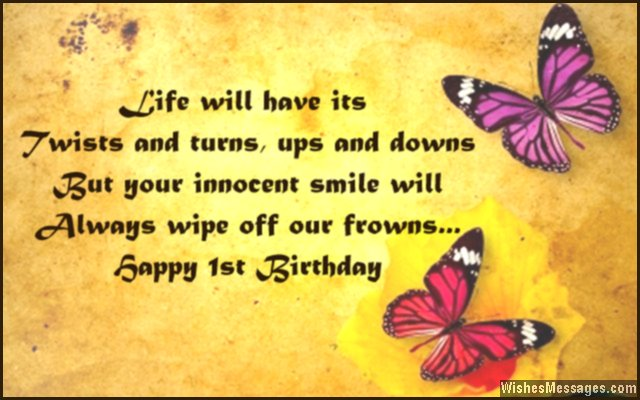 birthday message for my son turning 1 ; Cute-1st-birthday-greeting-card