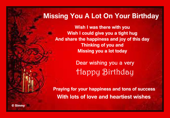 birthday message for my wife far away ; 318123